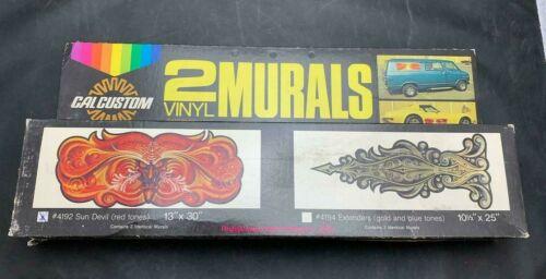"NOS Cal Custom 2 Vinyl Car or Van Side Murals Sun Devil 13/""x30/"" Red Tones CHEVY"