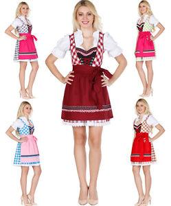 a57285836e66c4 Das Bild wird geladen NEU-dirndl-tracht-bayrisch-KaroBunt-3Tlg-groesse-32-