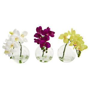 Set of 3 artificial 10 phalaenopsis orchid silk flower arrangements image is loading set of 3 artificial 10 034 phalaenopsis orchid mightylinksfo