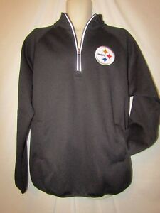 45156df8a818e Image is loading mens-NFL-Pittsburgh-Steelers-1-4-zip-pullover-
