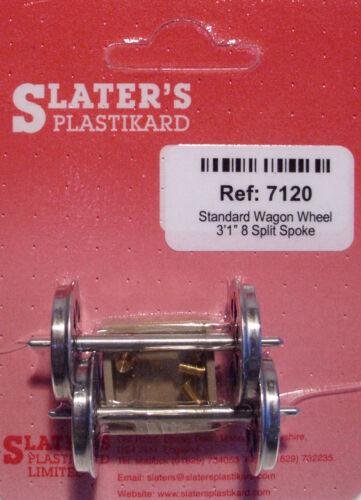 Slaters 7120 1 x Pair Split Spoked Wagon Wheels /& Brass Bearings Kit /'0/' Gauge T