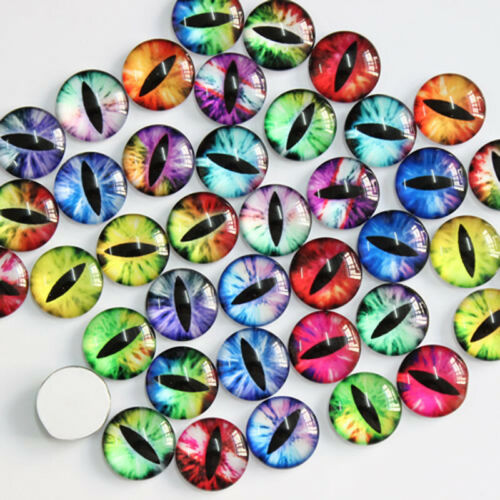 20//50Pcs Mixed Round Handmade Photo Glass Cabochon Domed Jewelry Making DIY