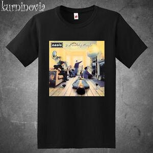 fac0bd6af771 Oasis Definitely Maybe Rock Band Album Cover Men's Black T-Shirt ...