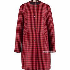 MARNI Red/Black Wool Blend coat UK10-12 IT42, rrp1195GBP New