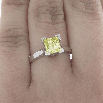 Initiative Estilo Clásico 1.92ct Corte Princesa 1 Diamante Fantasía Amarillo Gia 18ct Oro Nourishing The Kidneys Relieving Rheumatism Diamond Fine Jewelry