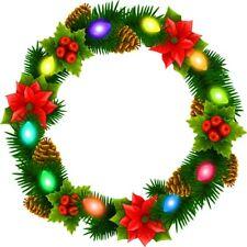 30 Custom Christmas Lights Wreath Personalized Address Labels