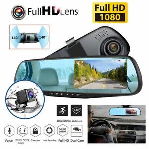 New 1080P HD Car Dash Camera Dual Cam Vehicle Front Rear DVR Lens Video Recorder