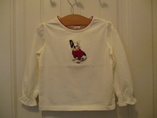 Janie and Jack NWT Adorable Bulldog Girls LS Top 3T  Free Shipping