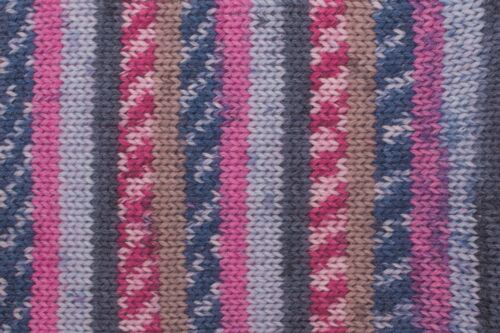 rayas patrón desde el ovillos * 4 fädig 100g Calcetines lana gründl Hot socks rubin