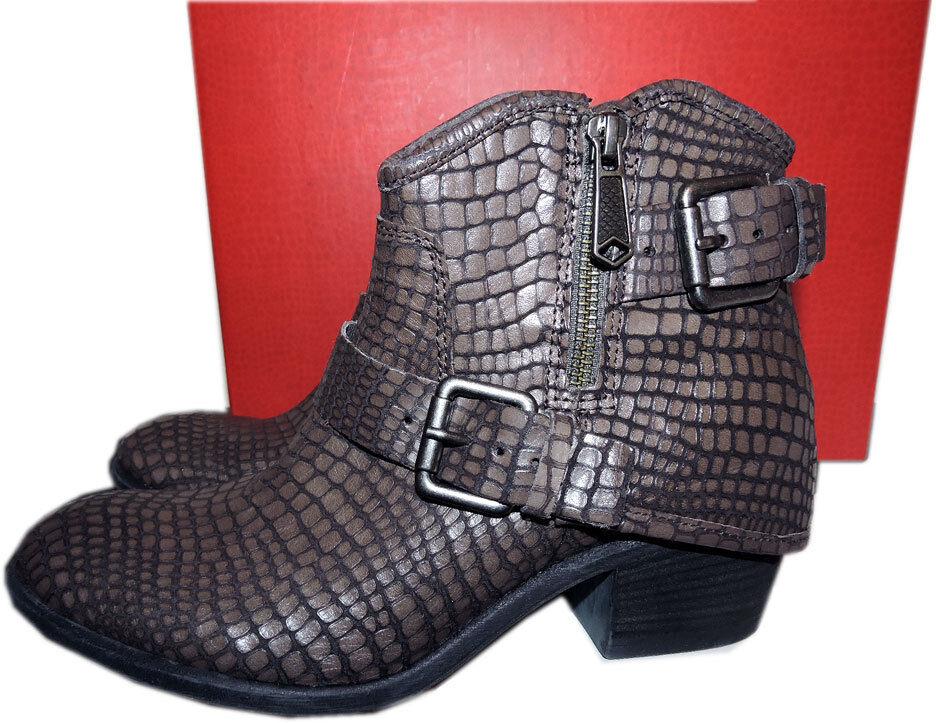 348 Donald Pliner Pliner Pliner tobillo botas de Montar carbón Dalis Vintage Python 9.5 Botines 1adbcd