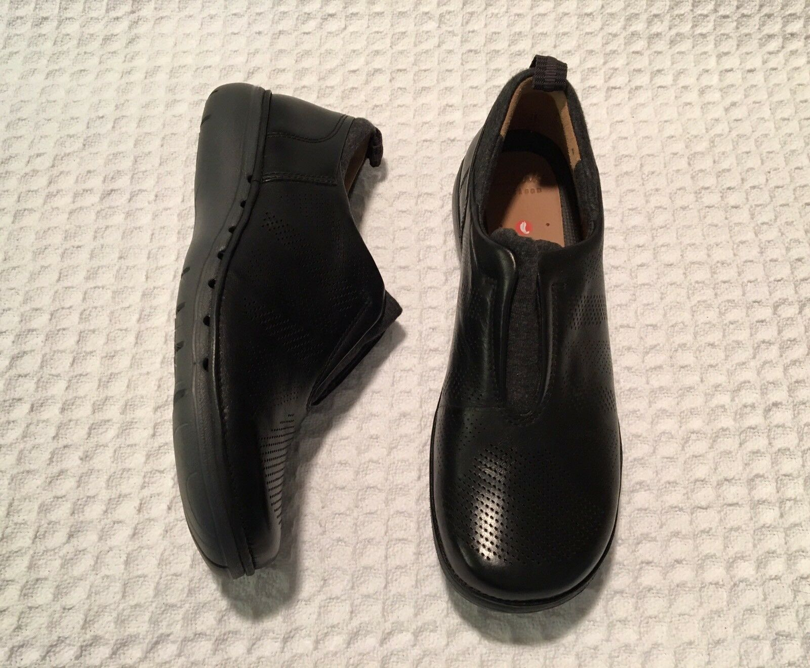 CLARKS Unstructured Un.Spirit Spirit Spirit Spirit Leather Loafers Black 6.5 W Wide worn once 26c3d1