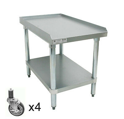 """ACE Stainless Steel Equipment Stand w/ 4"""" Casters 24""""Wx24.""""Lx27-1/2""""H ES-S2424"""