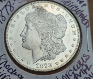 1878 S Morgan Dollar with Proof Like Fields