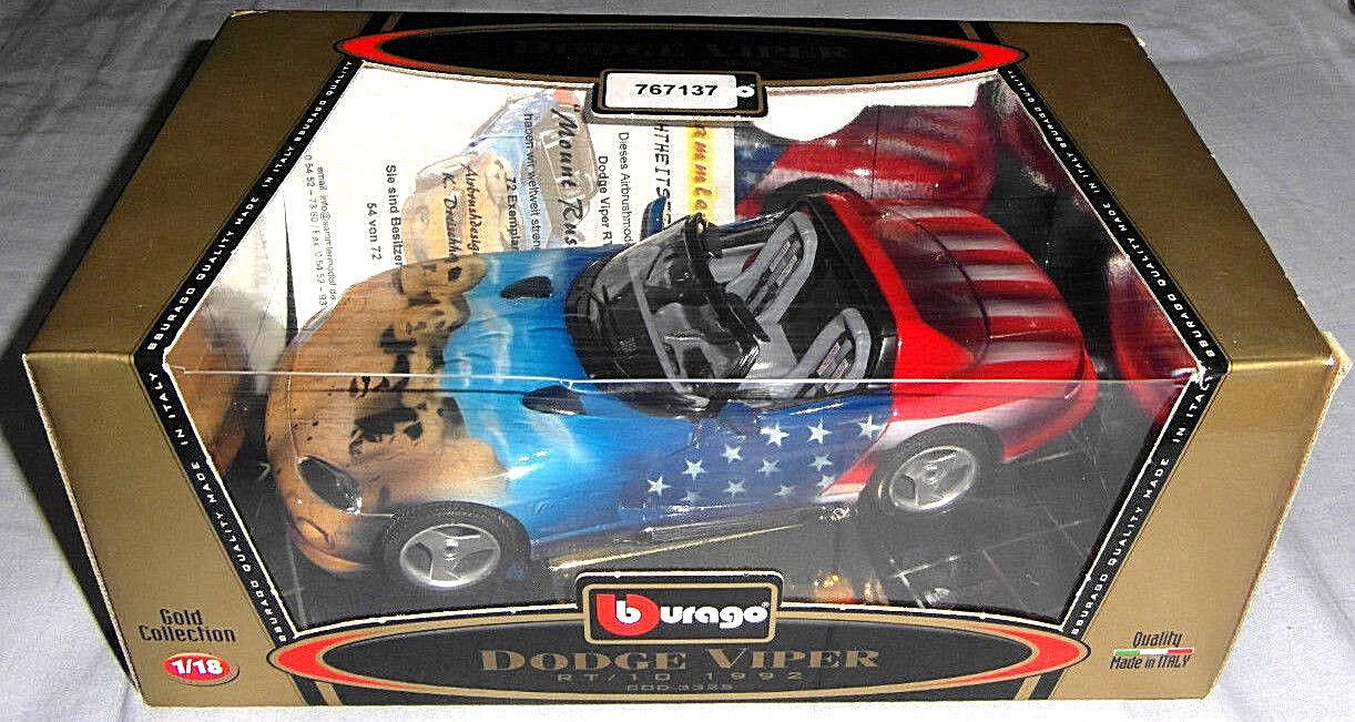 tienda Mount Rushmore Dodge Viper rt rt rt 10 1992 qvc aerógrafo modelo Limited 72 unid. nº 54  marca en liquidación de venta