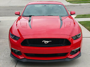 Mustang Decals And Stripes >> 2015 2016 New Ford Mustang Hood Spears Stripes Vinyl Decals Graphics