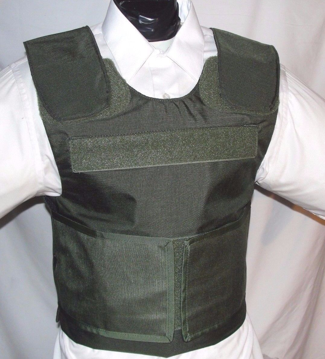 New  Large Lo-Vis Plate Carrier Body Armor BulletProof Vest w Full IIIA Inserts  classic style
