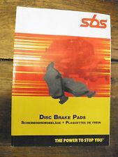 catalogue  SBS -  plaquettes de frein - disc brake pads
