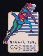 Short Track Skating~Olympic Pin Badge~sponsor: IBM ~1998 Nagano~Winter Games