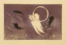 Mary Beach gravure monotype signée 1990 abstrait Etats-Unis  Pélieu P 762