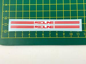old school bmx decals stickers redline FLIGHT crank red on black