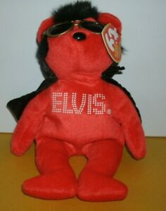 Ty Beanie Babies Elvis Presley Shake Rattle and Beanie New