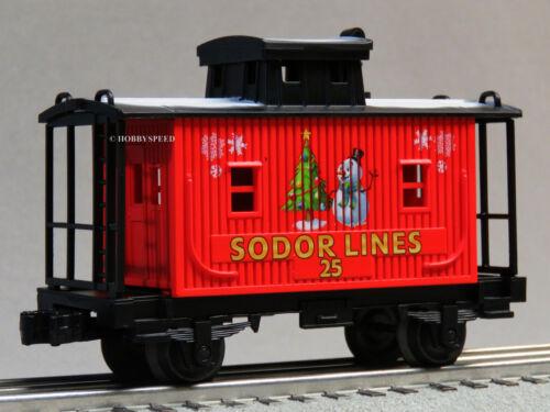 LIONEL THOMAS /& FRIENDS CHRISTMAS SODOR LINES CABOOSE O GAUGE 6-85324-C NEW