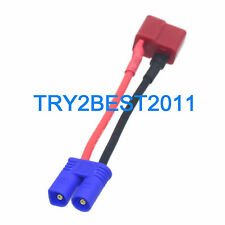 No Wire Adapter Connector EC2 to T-Plug Deans For RC lipo battery Heli DIY