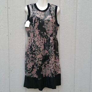 d1ca17268e02 ADAM Lippes Women s Dress Size 8 Silk Floral Pink Black