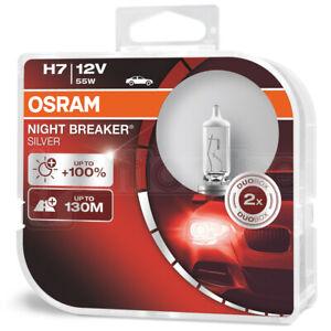 OSRAM-H7-499-12V-55W-Night-Breaker-Silver-100-Car-Headlight-Bulbs-Twin-Pack