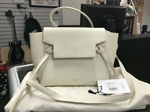 a27aafe8bc12 Image is loading Authentic-Celine-Micro-Belt-Bag-White-Grained-Leather-