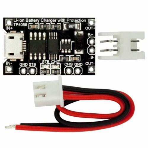 5X Robotdyn Tp4056 Mikro-Usb 18650 Li-Ion Akku Ladegerät 1A Mit Strom Ansch Z4Q8