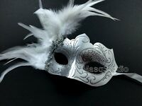 Quinceanera Masquerade Mask Turquoise White Silver Gold Surprise Birthday Party