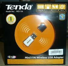 NEW Tenda W311M Mini 11N Wireless N USB Adapter 802.11B//G//N Compatible