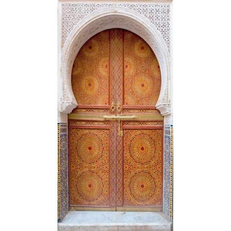 Adhesivo Puerta Trompa Trampantojo Oriental Oriental
