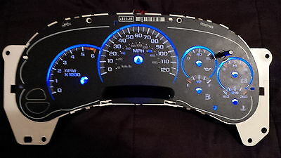 LED BLUE 9 pc Light Kit GM Gauge Cluster Speedometer Tahoe Hummer Denali Avalanc