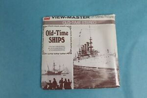 VINTAGE VIEW-MASTER 3D REEL PACKET B796 OLD TIME SHIPS IN BLACK & WHITE SEALED