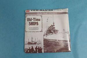 VINTAGE VIEW-MASTER 3D REEL PACKET B796 OLD TIME SHIPS IN BLACK & WHITE SEALED