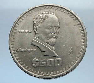 1988-MEXICO-Mexican-HERO-President-Francisco-Madero-500-Pesos-Coin-EAGLE-i70763