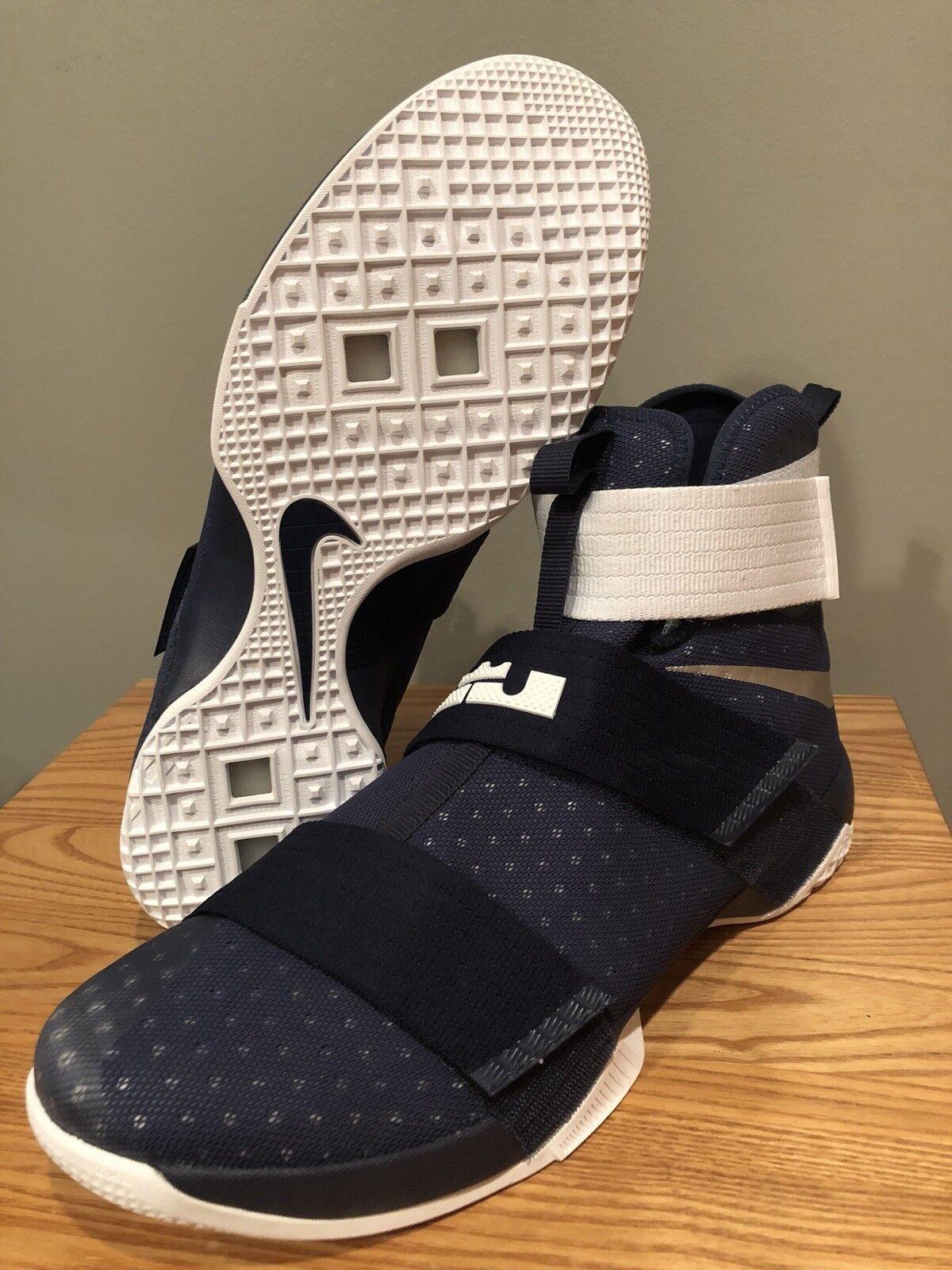 Nuove nike lebron / soldato 10 x marina / lebron white dimensioni 17 scarpe da basket 55c3b5