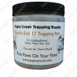 Papio-Creek-Buck-039-s-End-17-Trapping-Bait-8-oz-Wolf-Yote-Fox-Cat-Freeze-Proof