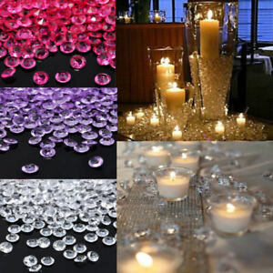 1000pcs wedding party decor scatter table crystals diamonds acrylic image is loading 1000pcs wedding party decor scatter table crystals diamonds junglespirit Choice Image