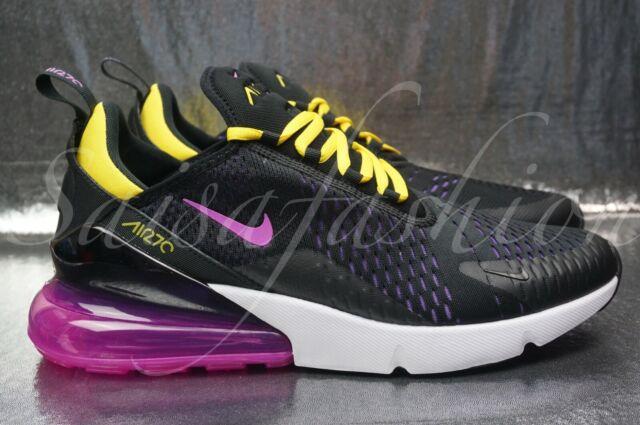 bb3540ca70 Nike Air Max 270 Black HYPER Magenta Yellow Purple Grape Ah8050 006 ...