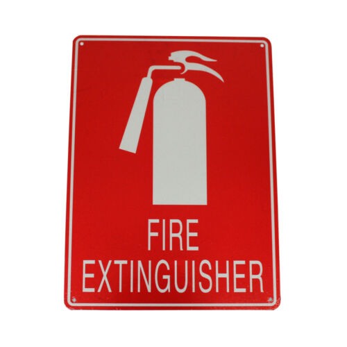 3x WARNING Notice FIRE EXTINGUISHER SIGN 225x300mm METAL EMERGENCY FIRE Safety