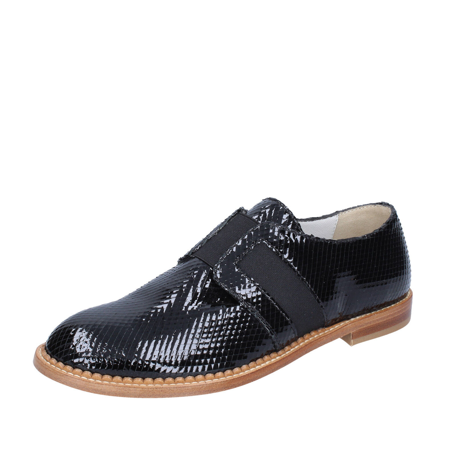 Donna  Scarpe Arnold churgin 3,5 EU 36,5 elegante nera pelle verniciata BT955-36, 5