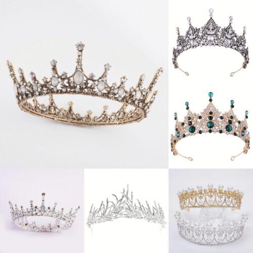 Halloween Christmas Jeweled Baroque Queen Crowns Rhinestone Wedding Tiaras Party