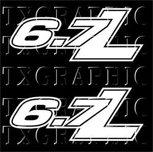 S L on 7 3 powerstroke stickers