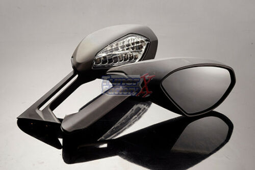 2015-2017 2018 Ducati New Panigale 1299 959 Turn Signal Black Mirrors Set 16-19