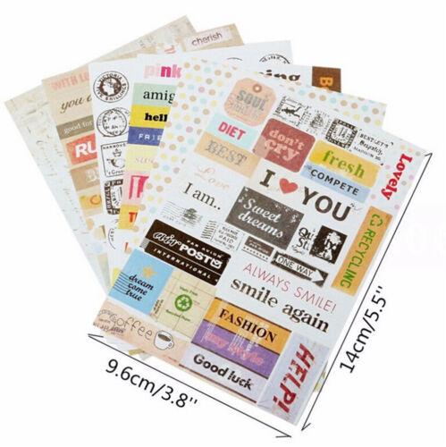 6 sheet//lot Vintage Retro Stamp Sticker Cute Cartoon Paper Sticker FF 1 bag