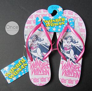 f6366a179760a Details about Primark Official DC COMICS WONDER WOMAN Ladies Flip Flops  Thongs Sandals