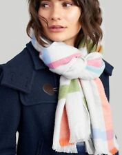 Joules Womens Berkley Woven Longline Scarf ONE in Grey Check in One Size